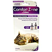 Comfort Zone w/ Feliway Double Refill (Diffuser and Spray sold separately) from Central Life Sciences