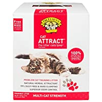 Do not leave this out of your litter box retraining plan!! Precious Cat Cat Attract Problem Cat Training Litter, 20 pound bag from Precious Cat