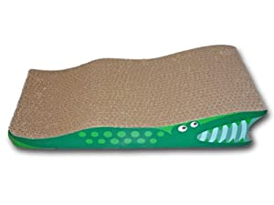 SCRATCH'M Crocodile Cat Scratcher with Catnip from Think!Cat